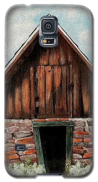 Galaxy S5 Case featuring the painting Old Root House by Anastasiya Malakhova