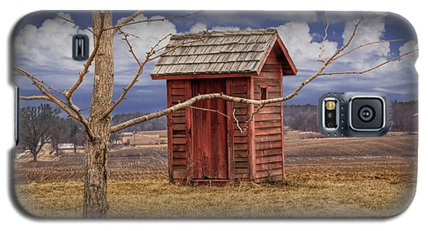 Old Rustic Wooden Outhouse In West Michigan Galaxy S5 Case