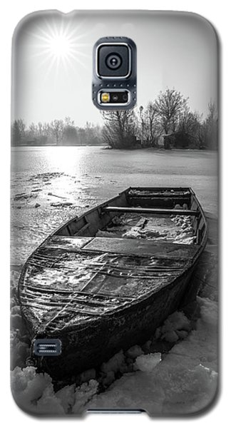 Galaxy S5 Case featuring the photograph Old Rusty Boat by Davorin Mance