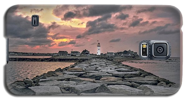 Old Scituate Light At The End Of The Jetty Galaxy S5 Case