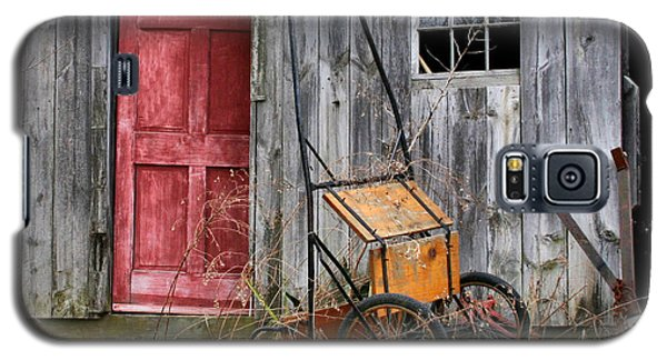 Old Shed Red Door And Pony Cart Galaxy S5 Case