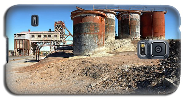 Galaxy S5 Case featuring the photograph Old Silver Mine Broken Hill by Bill Robinson