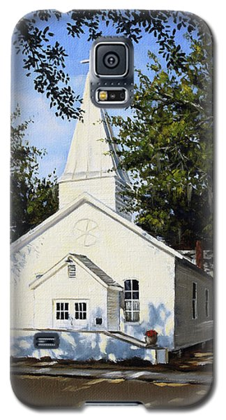 Galaxy S5 Case featuring the painting Old St. Andrew Church by Rick McKinney