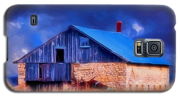 Old Stone Barn Blue Galaxy S5 Case