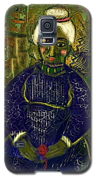 Galaxy S5 Case featuring the digital art Old Storyteller by Alexis Rotella
