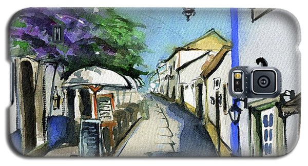 Galaxy S5 Case featuring the painting Old Street In Obidos, Portugal by Dora Hathazi Mendes