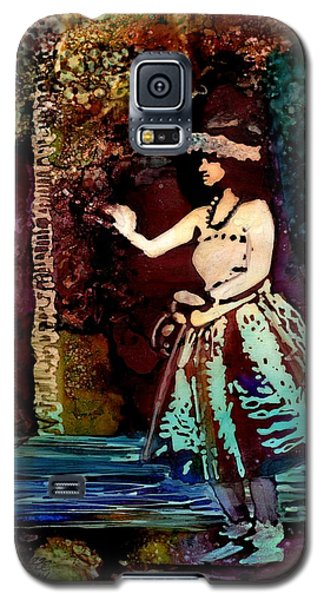 Galaxy S5 Case featuring the painting Old Time Hula Dancer by Marionette Taboniar
