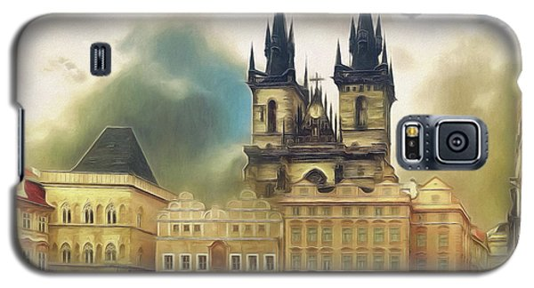 Old Town Square Prague In The Rain Galaxy S5 Case