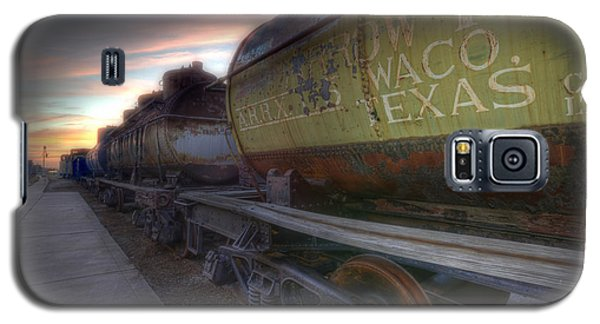 Galaxy S5 Case featuring the tapestry - textile Old Train - Galveston, Tx 2 by Kathy Adams Clark