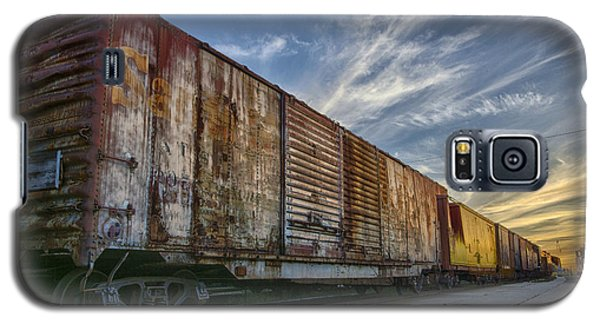 Galaxy S5 Case featuring the tapestry - textile Old Train - Galveston, Tx by Kathy Adams Clark