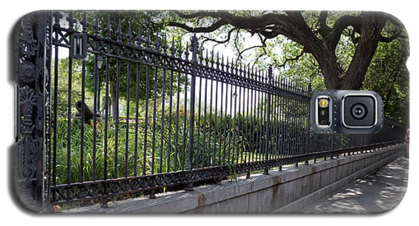 Old Tree And Ornate Fence Galaxy S5 Case