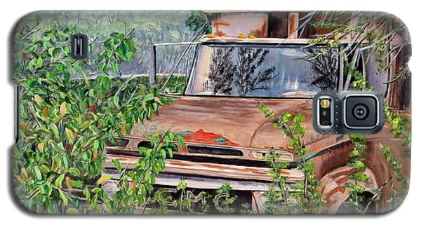 Galaxy S5 Case featuring the painting Old Truck Rusting by Marilyn  McNish