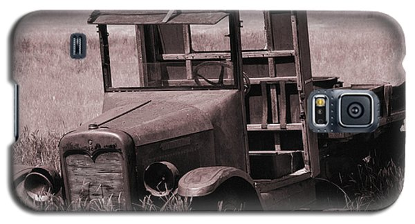 Galaxy S5 Case featuring the photograph Old Truck In Sepia by Kae Cheatham