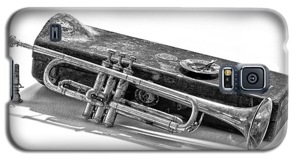 Galaxy S5 Case featuring the photograph Old Trumpet by Walt Foegelle