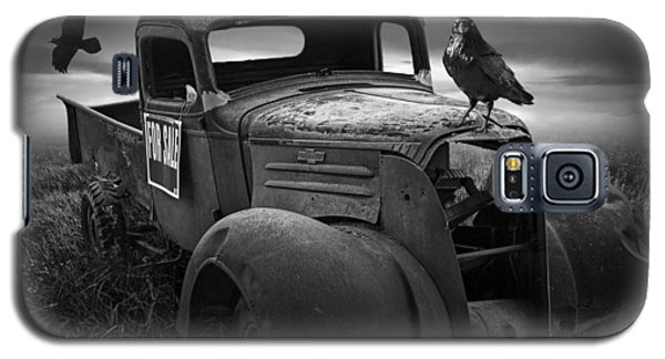 Old Vintage Chevy Pickup Truck With Ravens Galaxy S5 Case