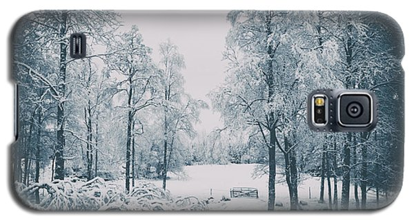 Galaxy S5 Case featuring the photograph Old Vintage Winter Landscape by Christian Lagereek
