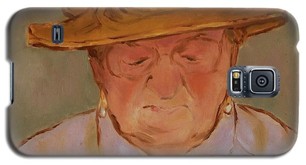 Old Woman With Yellow Hat Galaxy S5 Case