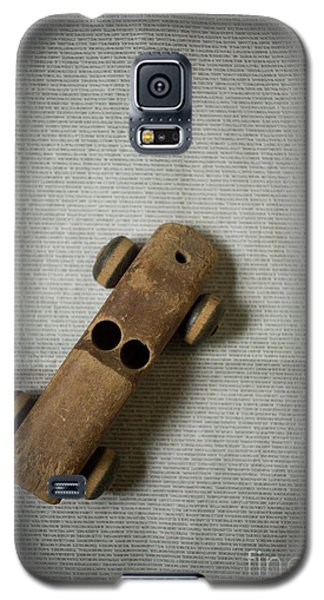 Galaxy S5 Case featuring the photograph Old Wooden Toy Car Still Life by Edward Fielding