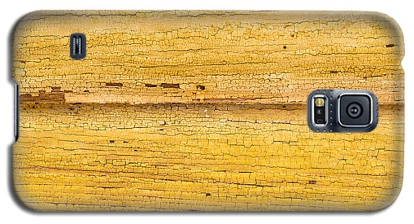 Galaxy S5 Case featuring the photograph Old Yellow Paint On Wood by John Williams