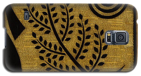 Galaxy S5 Case featuring the mixed media Olive Branch by Gloria Rothrock