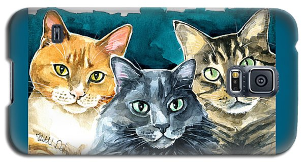 Oliver, Willow And Walter - Cat Painting Galaxy S5 Case