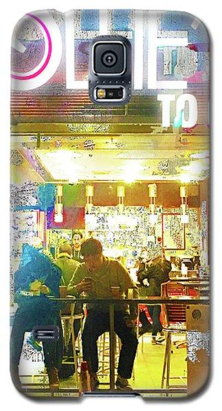 Galaxy S5 Case featuring the mixed media Ollie's by Tony Rubino