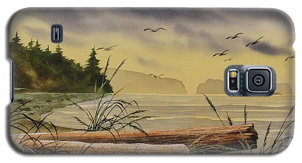 Galaxy S5 Case featuring the painting Olympic Seashore Sunset by James Williamson