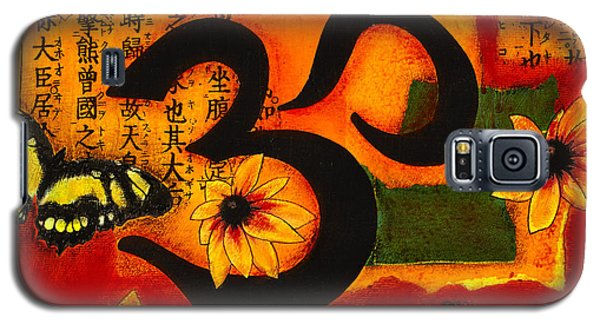 Galaxy S5 Case featuring the mixed media Om by Gloria Rothrock