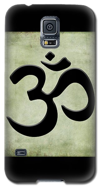 Galaxy S5 Case featuring the painting Om Green by Kandy Hurley