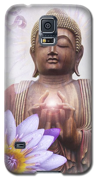 Om Mani Padme Hum - Buddha Lotus Galaxy S5 Case by Sharon Mau