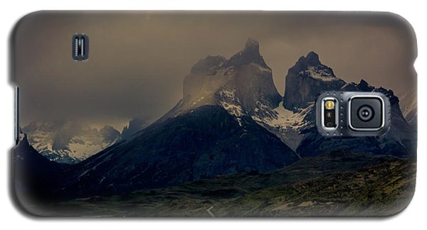 Galaxy S5 Case featuring the photograph Ominous Peaks by Andrew Matwijec