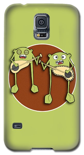 Galaxy S5 Case featuring the drawing Omti And Itmo by Uncle J's Monsters