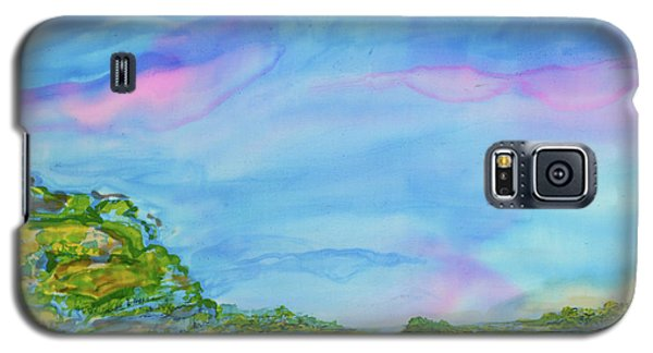 Galaxy S5 Case featuring the painting On A Clear Day by Susan D Moody