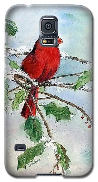 On A Snowy Perch Galaxy S5 Case