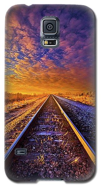 Galaxy S5 Case featuring the photograph On A Train Bound For Nowhere by Phil Koch