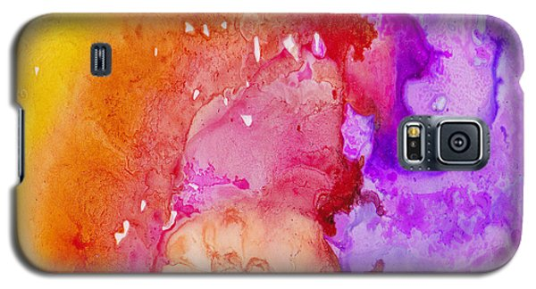 Galaxy S5 Case featuring the painting On Fire by Angela Treat Lyon