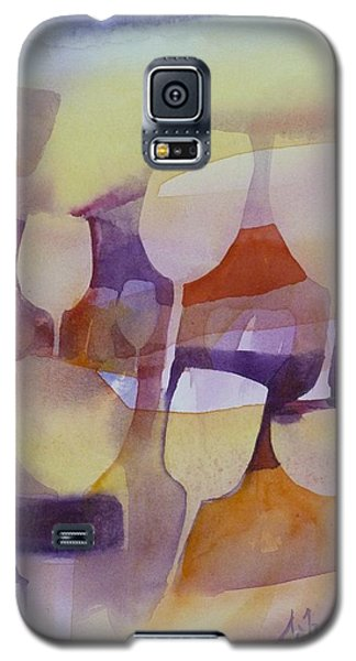 On Ne Voit Que Des Tulipes Galaxy S5 Case by Donna Acheson-Juillet
