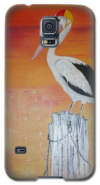 Galaxy S5 Case featuring the painting On Patrol by Lyn Olsen