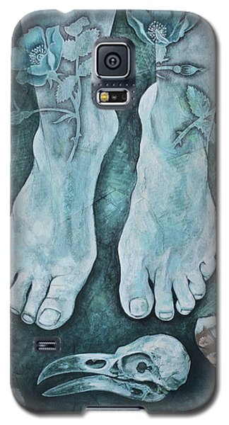 Galaxy S5 Case featuring the mixed media On Sacred Ground by Sheri Howe