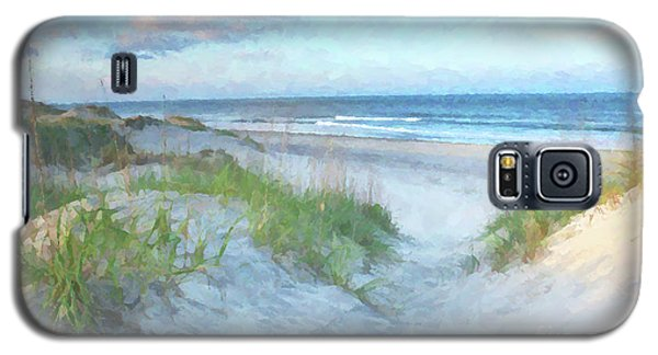 On The Beach Watercolor Galaxy S5 Case