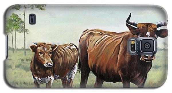 On The Florida Prairie Cracker Cattle Galaxy S5 Case