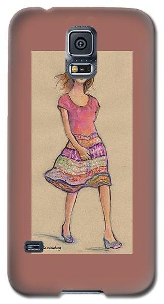 On The Go Fashion Illustration Galaxy S5 Case