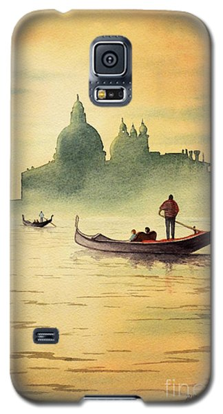 Galaxy S5 Case featuring the painting On The Grand Canal Venice Italy by Bill Holkham