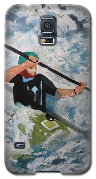 Galaxy S5 Case featuring the painting On The New by Sandy McIntire