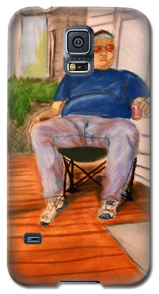 On The Porch With Uncle Pervy Galaxy S5 Case by Jean Haynes