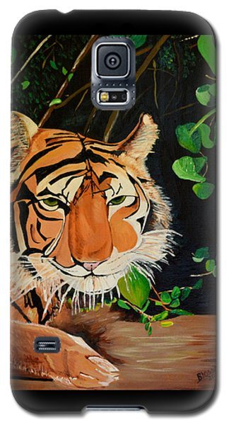 Galaxy S5 Case featuring the painting On The Prowl by Donna Blossom