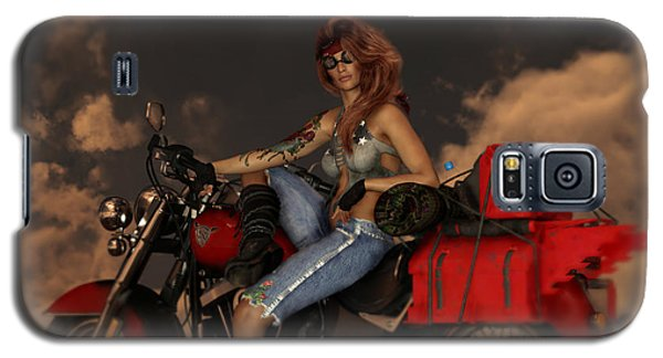 Galaxy S5 Case featuring the digital art On The Road Again by Shanina Conway