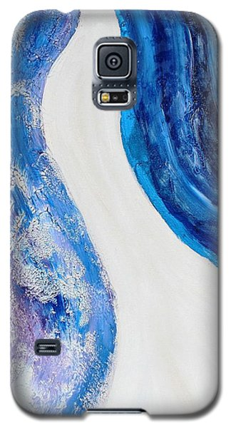 On The Road In Blue Galaxy S5 Case