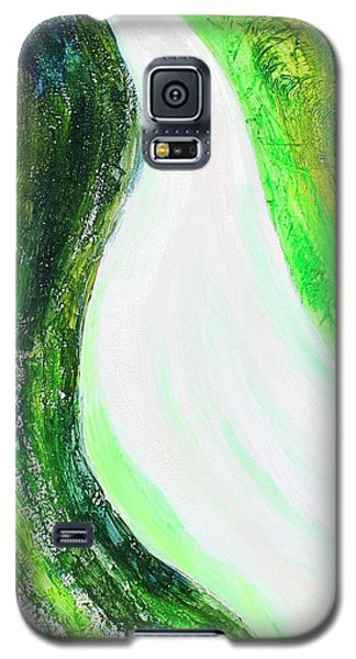 On The Road In Green Galaxy S5 Case