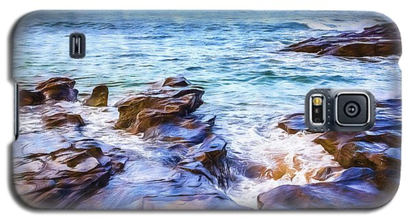 Galaxy S5 Case featuring the photograph On The Rocks by Perry Webster